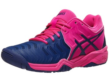 Product image of Asics Gel Resolution 7 GS Pink Glo Blue Junior Shoes a7804901799a