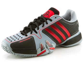 adidas Barricade 7 Novak Black/Scarlett Men's Shoe