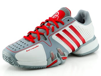 adidas Barricade 7 Novak White/Scarlett Men's Shoe