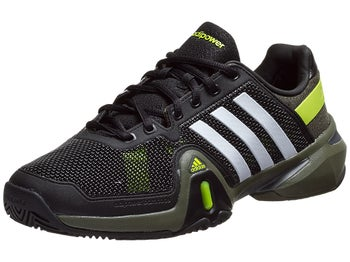 adidas Barricade 8 Bk/Wh/Green Men's Shoe