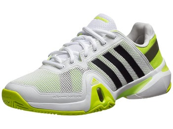 adidas Barricade 8 White/Green Men's Shoe