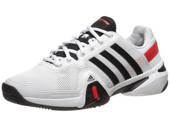 adidas Barricade 8 White/Black/Red Men's Shoe