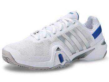 adidas Barricade 8 White/Silver/Blue Men's Shoe