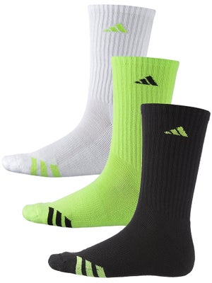 adidas Men's 3-Stripe 3-Pack Crew Socks Gn/Wh/Bk