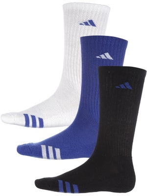 adidas Men's 3-Stripe 3-Pack Crew Socks Bl/Wh/Bk
