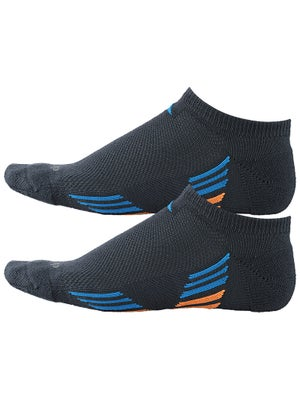 adidas Men's ClimaCool X 2-Pack No Show Socks Gy/Bl/Or