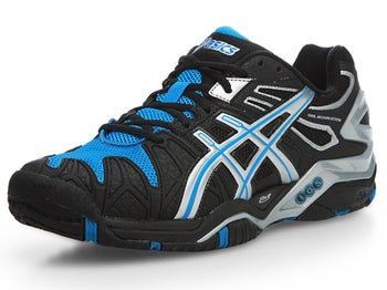 Asics Gel Resolution 5 Black/Blue Men's Shoes