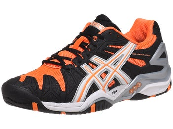 Asics Gel Resolution 5 Black/Orange Men's Shoes