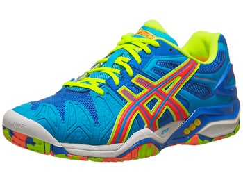 Asics Gel Resolution 5 Blue/Orange/Yellow Men's Shoes