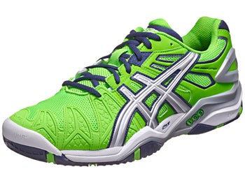 Asics Gel Resolution 5 Neon Green/Navy Men's Shoes