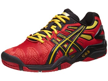 Asics Gel Resolution 5 Red/Bk/Yellow Men's Shoes