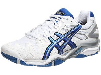 Asics Gel Resolution 5 White/Blue Men's Shoes