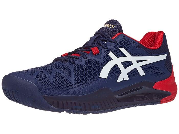 a teljes gyűjtemény klasszikus illeszkedés legjobb cipők Asics Gel Resolution 8 Navy/White/Red Men's Shoes