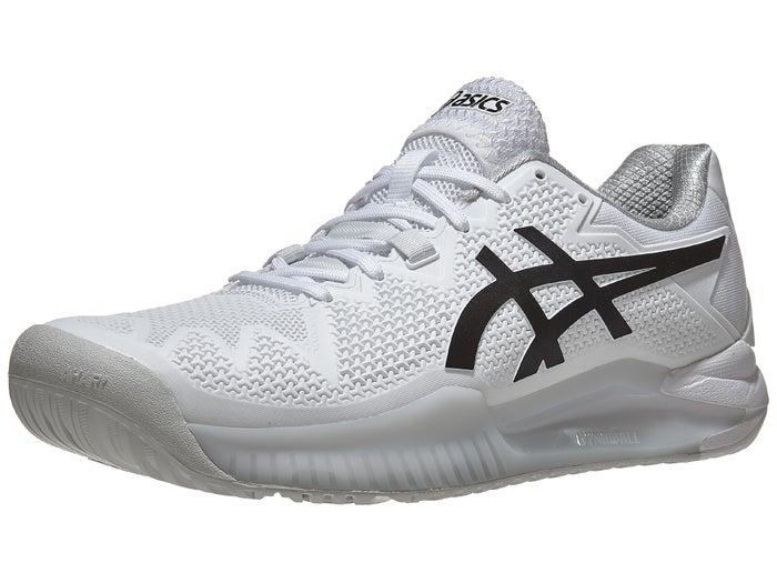 colegio Aptitud Interprete  Asics Gel Resolution 8 White/Black Men's Shoes