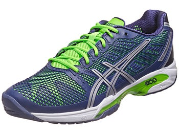 Asics Gel Solution Speed 2 Navy/Green Men's Shoes