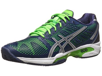 Asics Gel Solution Speed 2 Clay Navy/Green Men's Shoes