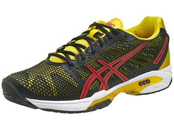 Asics Gel Solution Speed 2 Bk/Red/Yellow Men's Shoes