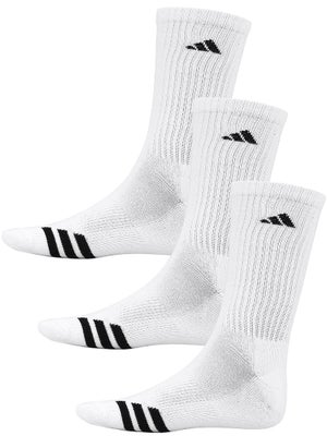 adidas Men's New 3-Stripe Crew 3-Pack Socks White