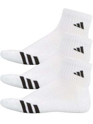 adidas Men's New 3-Stripe Quarter 3-Pack Socks White