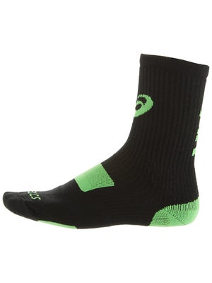 Asics Stripe Crew Socks Black/Green