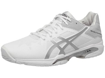 07860bf54d440 Product image of Asics Gel Solution Speed 3 White Silver Men's Shoes