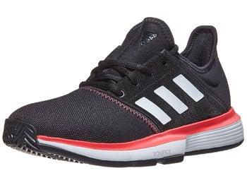 ce8e23dfedb adidas SoleCourt xJ Black/Red Junior Shoes