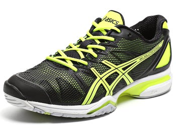 Asics Gel Solution Speed Black/Yellow Men's Shoes