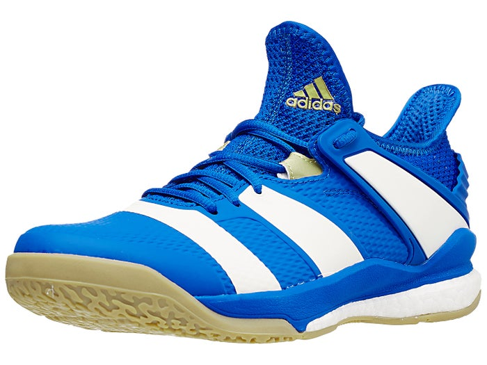 Murciélago esfera Requisitos  adidas Stabil X Boost Men's Shoes - Blue/White/Gold