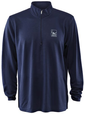 ATP Men's Performance Long-Sleeve Zip Pullover