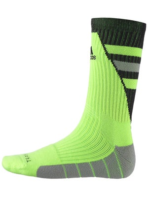 adidas Team Speed Crew Socks Solar Slime/Black