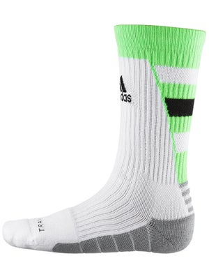 adidas Team Speed Traxion Crew Sock Wh/Solar Green