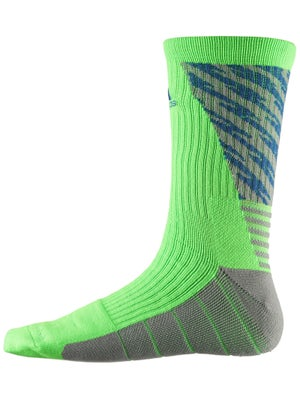adidas Speed Traxion Shockwave Crew Socks Solar Green