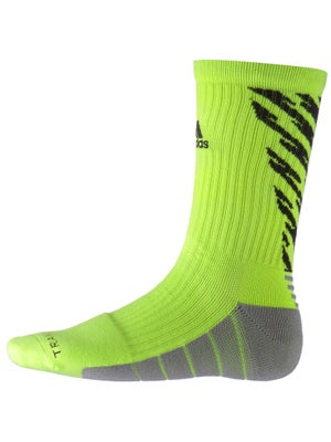 adidas Speed Traxion Shockwave Crew Socks Slime/Black