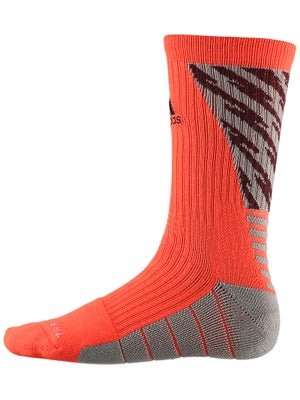 adidas Speed Traxion Shockwave Crew Socks Solar Red
