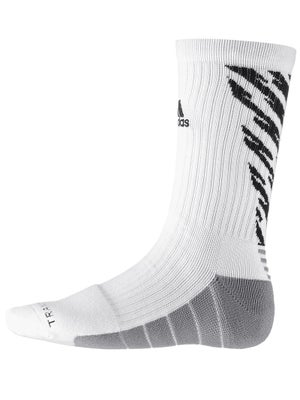 adidas Speed Traxion Shockwave Crew Socks White