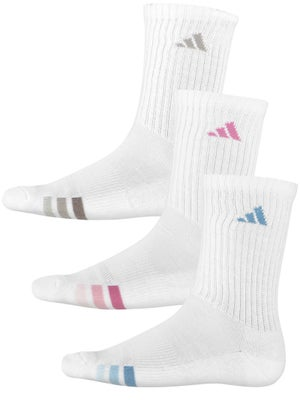 adidas Women's Athletic Crew 3-Pack Socks White
