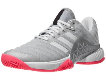 0e862cb8a7558 Product image of adidas Barricade 2018 Silver Wh Pink Women s Shoes