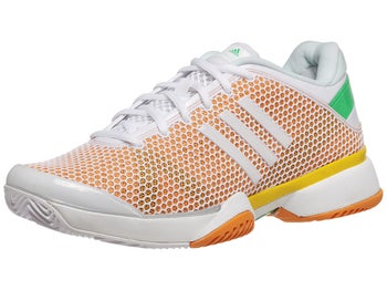 adidas Stella Barricade 8 White/Orange Women's Shoe