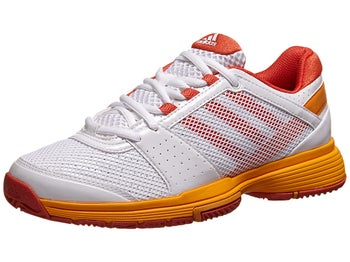 adidas Barricade Team 3 White/Orange Women's Shoe