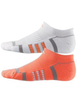 adidas Women's ClimaLite II 2-Pack No Show Socks Or/Wh