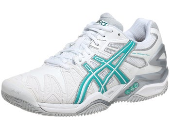 Asics Gel Resolution 5 Clay Wh/Green Women's Shoes
