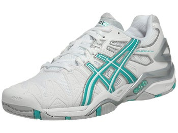Asics Gel Resolution 5 White/Green Women's Shoes
