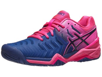 ab8269ccc7d5 Product image of Asics Gel Resolution 7 Blue Pink Women s Shoes