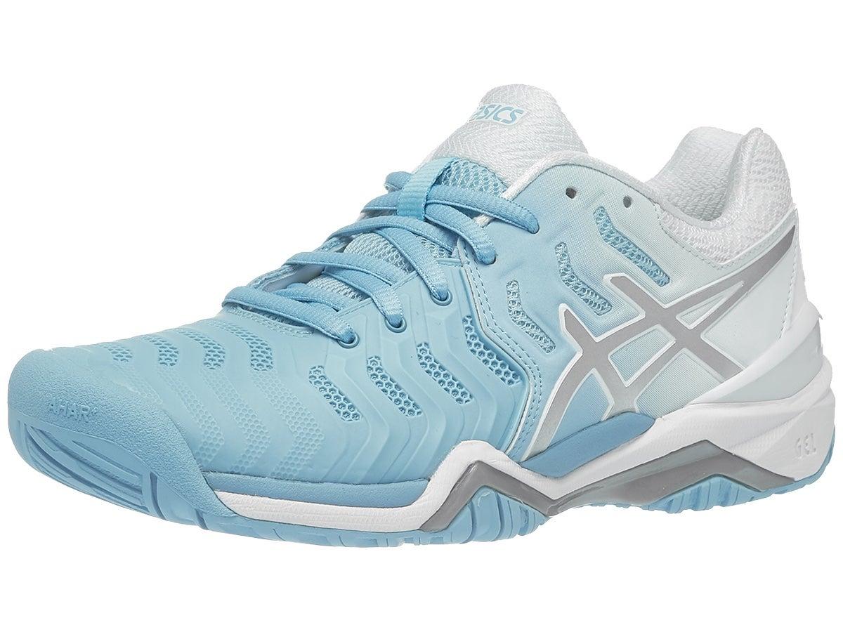 Asics Gel Resolution 7 Blue Silver White Women S Shoes