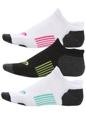 Asics Women's Hydrology Low-Cut 3 Pack Socks Assorted