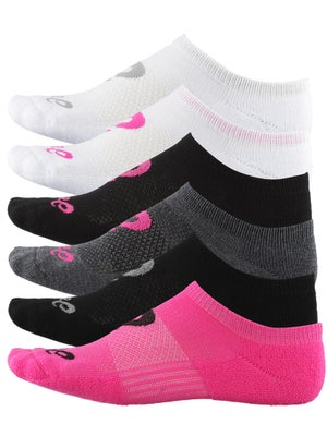Asics Invasion No Show 6 Pack Socks Assorted