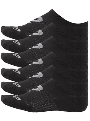 Asics Invasion No Show 6 Pack Socks Black