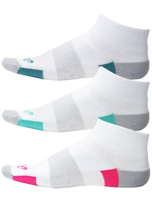 Asics Women's Intensity Quarter 3 Pack Socks Assorted