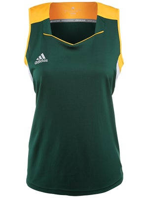 adidas Women's miTeam Tank - Green & Gold