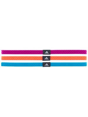 adidas Women Shimmy Hairbands 3-Pack Pink/Orange/Blue